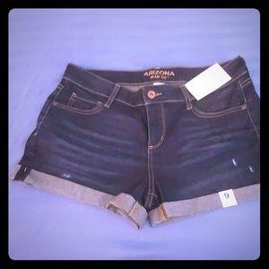 *New With Tags* Arizona Size 9 Jean Shorts